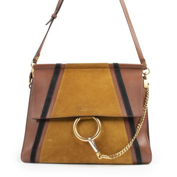 Chloé Faye Medium Patchwork Leather & Suede Bag kopen en verkopen aan de beste prijs bij Labellov