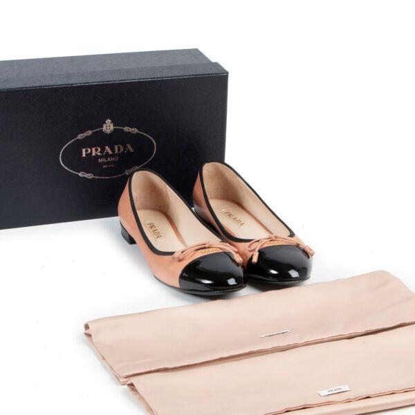 Prada Two-Tone Ballerina Flats - size 39.5