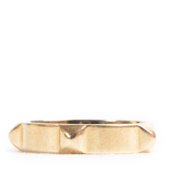 Hermes 18K Rose Gold Mini Clous Ring