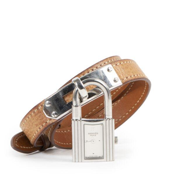 Authentic secondhand Hermès Kelly Silver Watch - Size Large designer accessories fashion luxury vintage webshop
