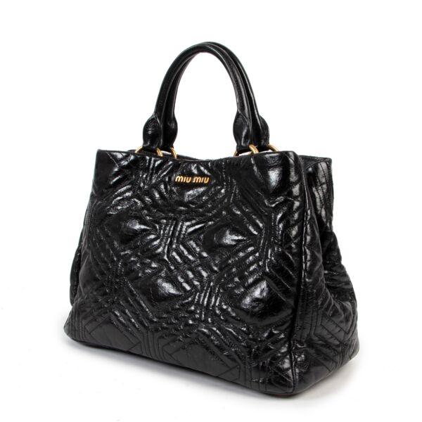 Miu Miu Vitello Shine Trapu Shoulder Bag