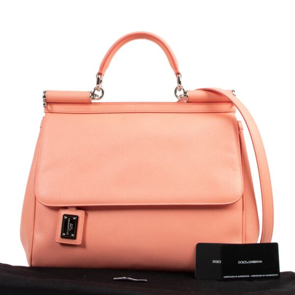 "Dolce & Gabbana Pink ""Miss Sicily"" Tote Bag"