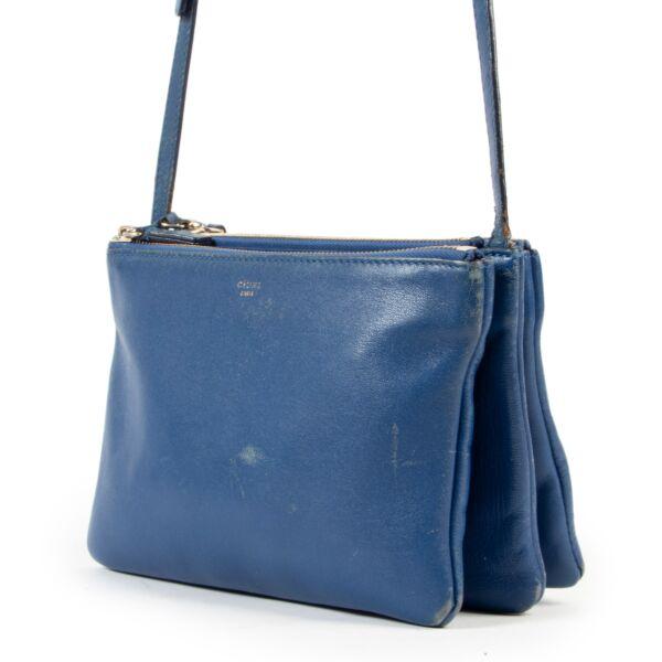 Celine Blue Trio Crossbody Bag