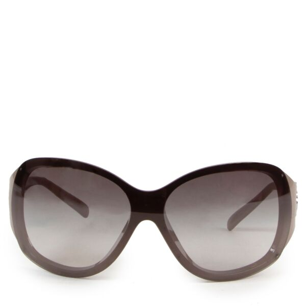 Shop safe online authentic Chanel grey acetate sunglasses at the right price