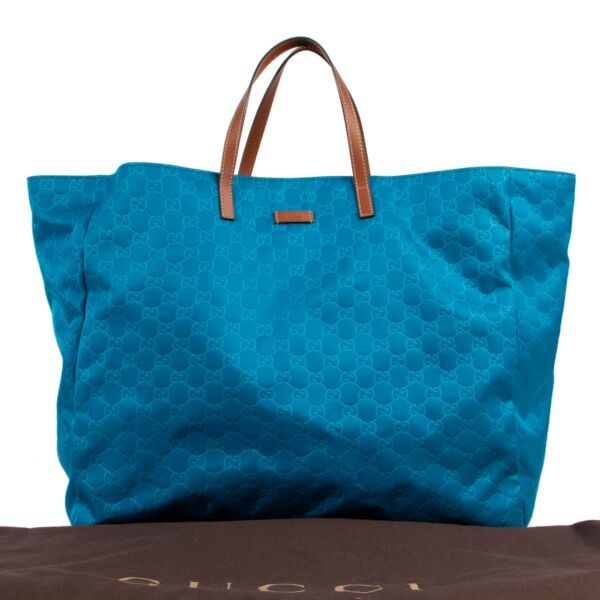 Gucci Blue Nylon Monogram Travel bag