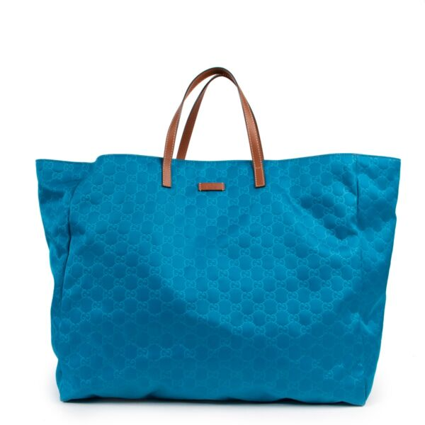 Light blue Gucci Monogram bag in good condition