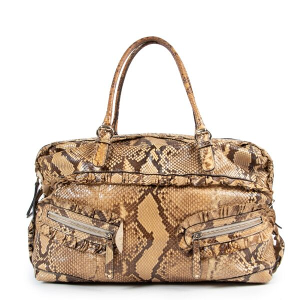 Buy in very good condition a Gucci Beige Python Shoulder Bag