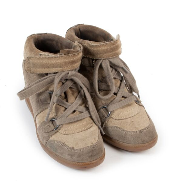 Isabel Marant Brown Bekett Sneakers - size 37