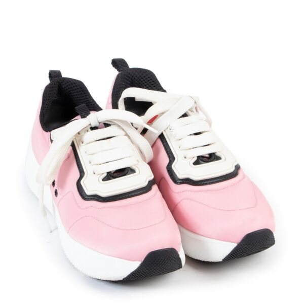 Prada Pink Nylon Sneakers - Size 36,5