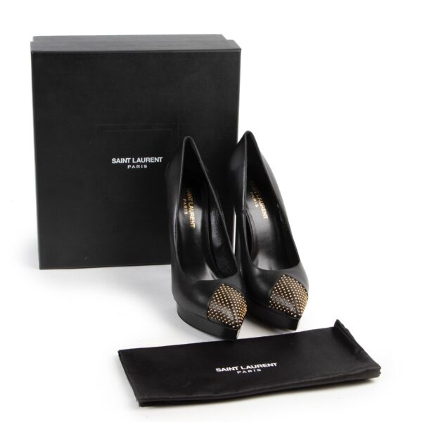 Saint Laurent Black Studded Pumps - Size 39,5