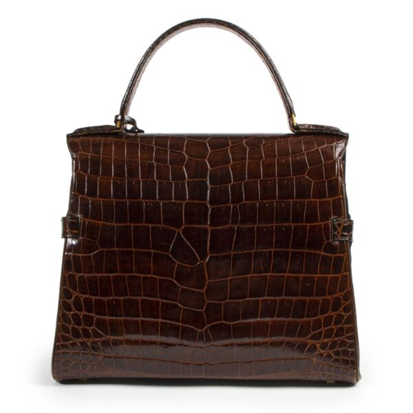 Delvaux Tempete Croco Brown GHW