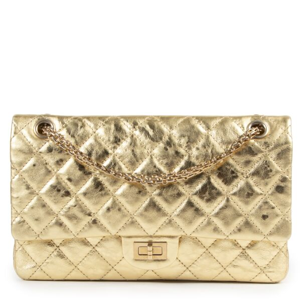Chanel 2.55 Reissue 226 Gold Flap Bag