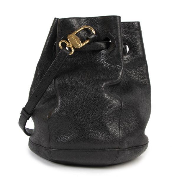 Delvaux Black Bucket Bag