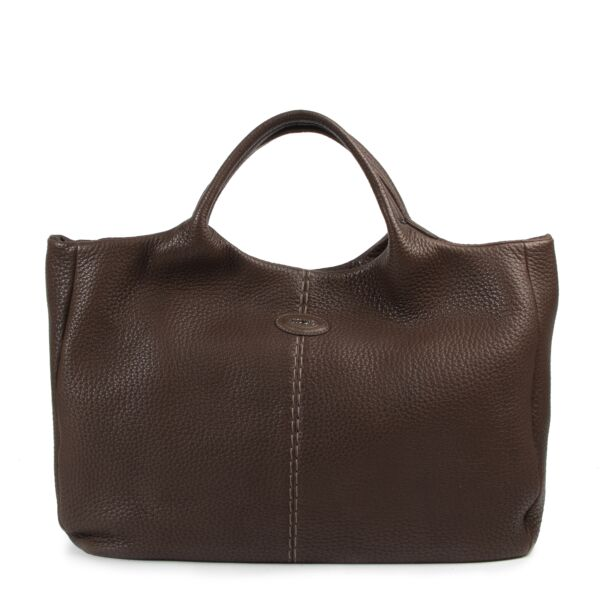 Tod's Brown Leather Shoulder Bag for the best price at Labellov