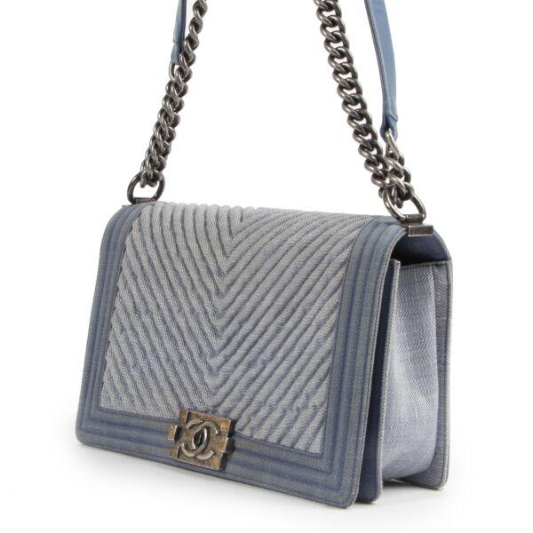 Chanel Denim Chevron New Medium Boy Bag