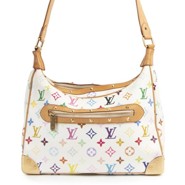 Authentic secondhand Louis Vuitton Multi Color Takashi Murakami Boulogne Bag designer bags fashion luxury vintage webshop safe secure online shopping