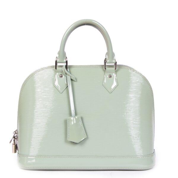 Louis Vuitton Mint Green Epi Leather Alma PM