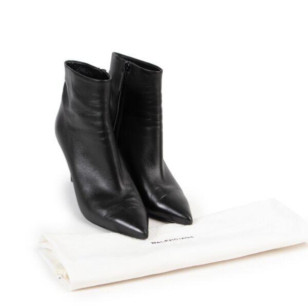 Balenciaga Black Leather Boots - Size 39,5