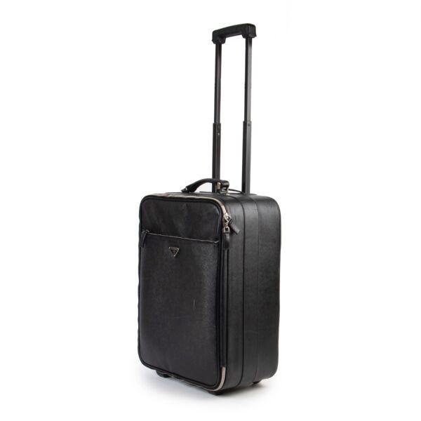 Prada Black Saffiano Leather Travel Bag