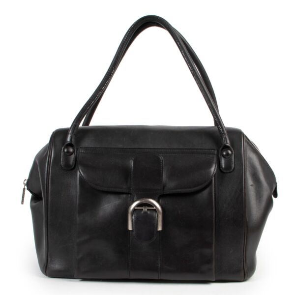 Buy and sell. your designer vintage items such as this Delvaux Black Brillant 12H Fauve Bourgogne Bag at Labellov.