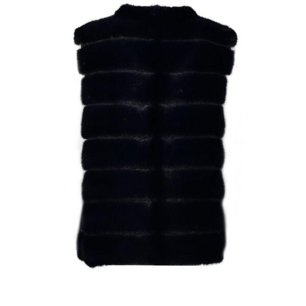 Fendi Dark Blue Fur Jacket - Size IT 44