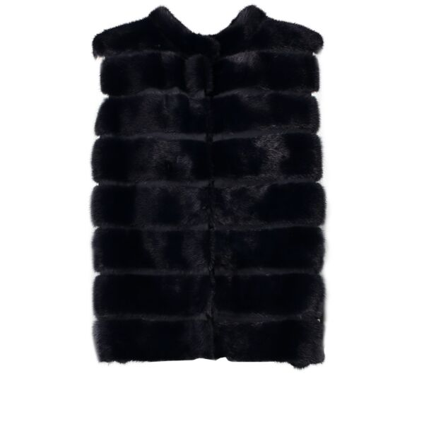 Shop safe online authentic Fendi Black Fur Jacket in Size 44 at the right price.