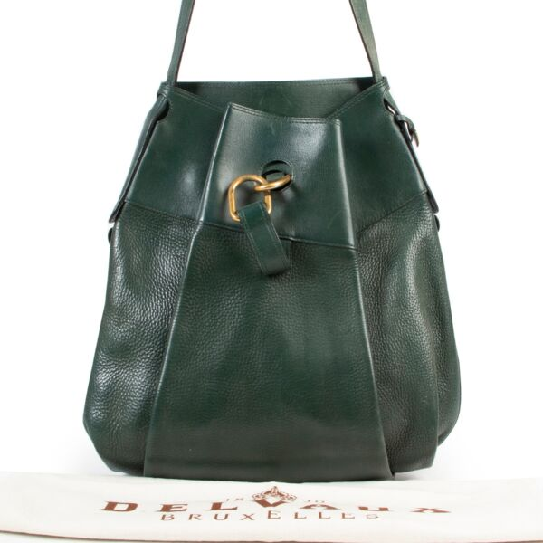 Delvaux Green Leather Faust Bag