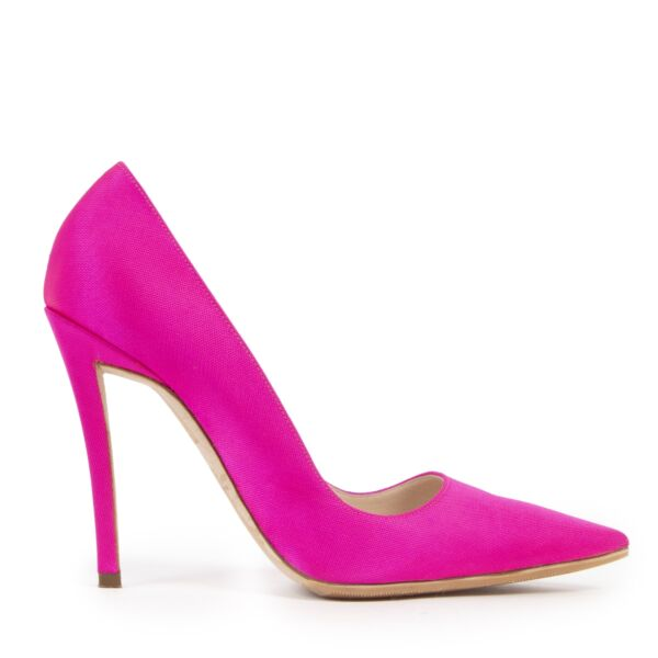 Authentic second-hand vintage Christian Dior Fluo Pink Pumps - Size 39 buy online webshop LabelLOV