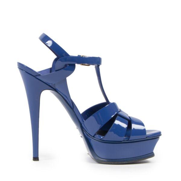 Authentic second-hand vintage Yves Saint Laurent Tribute Platform Sandals - Size 39 buy online webshop LabelLOV