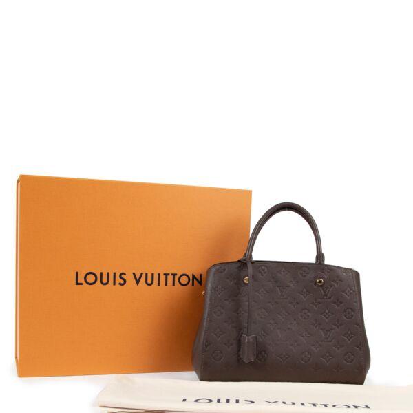 Louis Vuitton Brown Monogram Montaigne MM Top Handle Bag