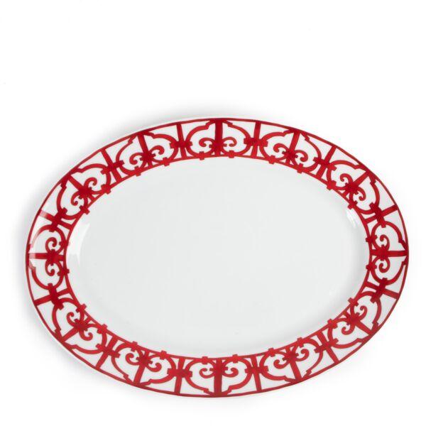 shop online authentic second hand Hermès dinnerware Balcon du Guadalquivir Oval Platter Large Model on Labellov