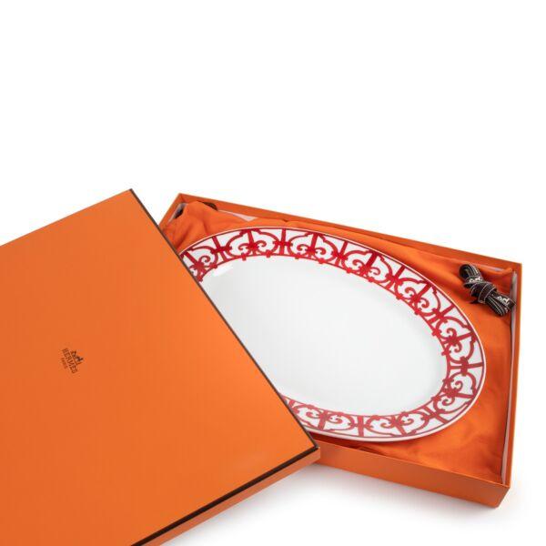 Hermès Balcon du Guadalquivir Oval Platter Large Model