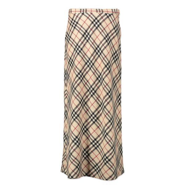 Burberry Checked Pattern Long Skirt - Size IT 46