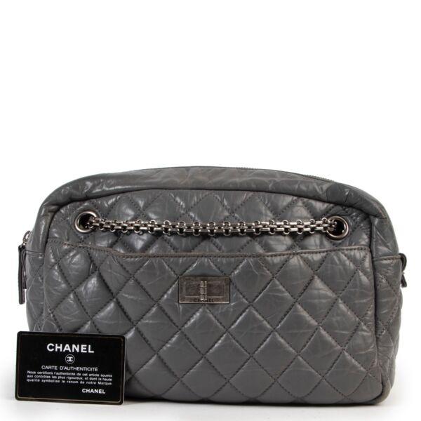 Chanel Grey Quilted Reissue Camera Shoulder Bag