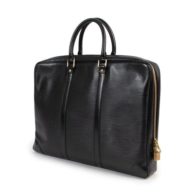 Louis Vuitton Black Epi Leather Porte Documents Top Handle