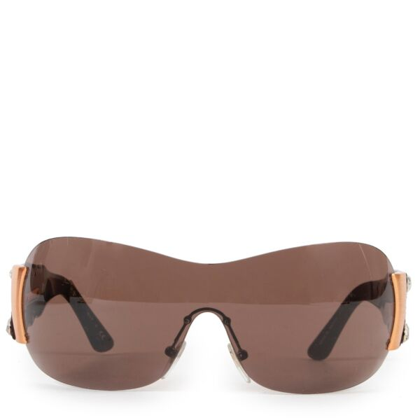 Shop safe online authentic second hand Bulgari Brown Limited Edition Sunglasses at Labellov.com.