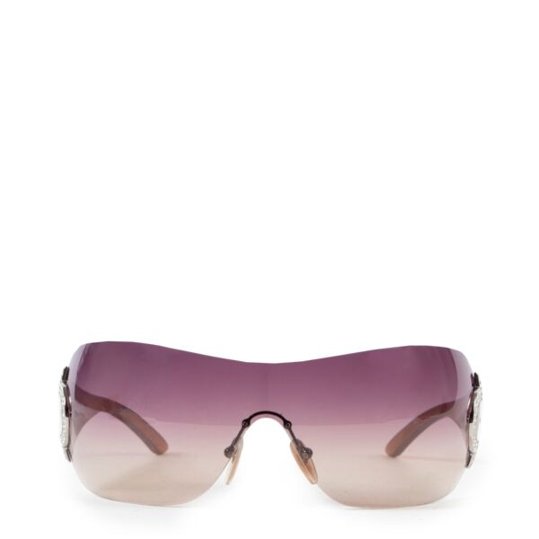 Shop safe online authentic second hand Bulgari Purple Rimless Sunglasses at the right price.