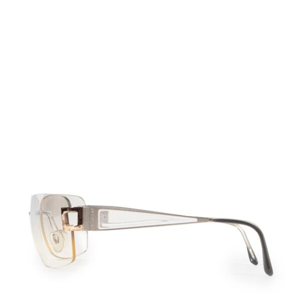 Bulgari Silver Rimeless Glasses
