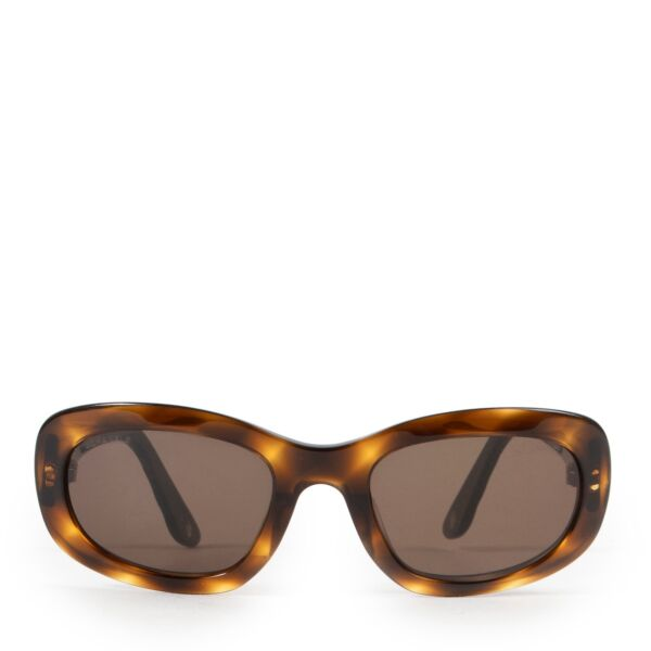 Shop safe online authentic second hand Chanel Brown Sunglasses at the right price.