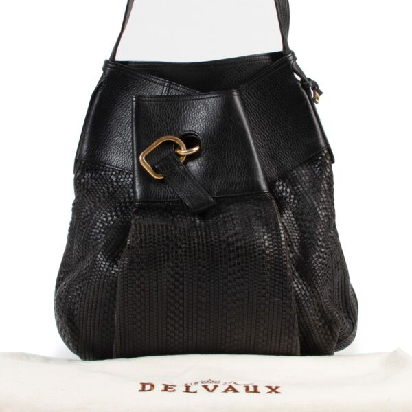 Delvaux Black Leather Faust Crossbody Bag
