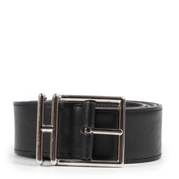Shop safe online 100% authentic second hand Hermès Black/Brown Natan Reversible Belt - Size 100 in very good preloved condition at the right price at Labellov in Antwerp.