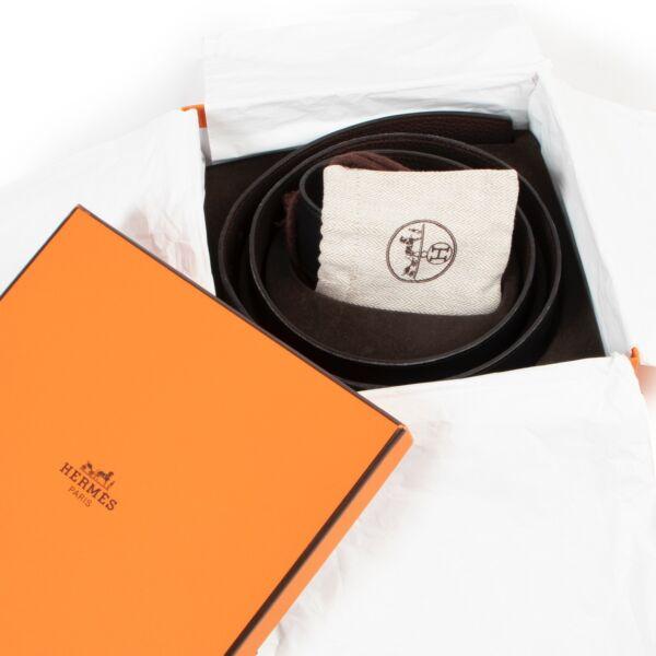 Hermès Black/Brown Natan Reversible Belt - Size 100
