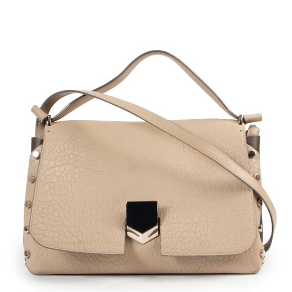 Shop safe online 100% authentic second hand Jimmy Choo Taupe Shoulder Bag in very good condition at the right price at Labellov in Antwerp.