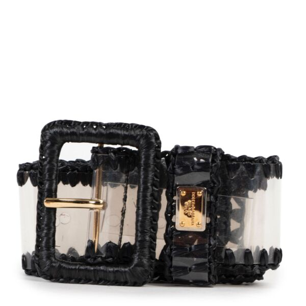 Dolce & Gabbana Transparant Belt - Size 75