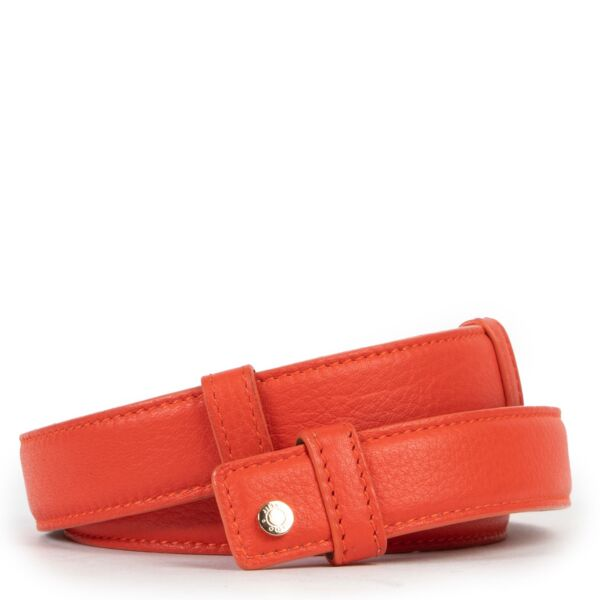 Jimmy Choo Leather Coral Belt - size 90