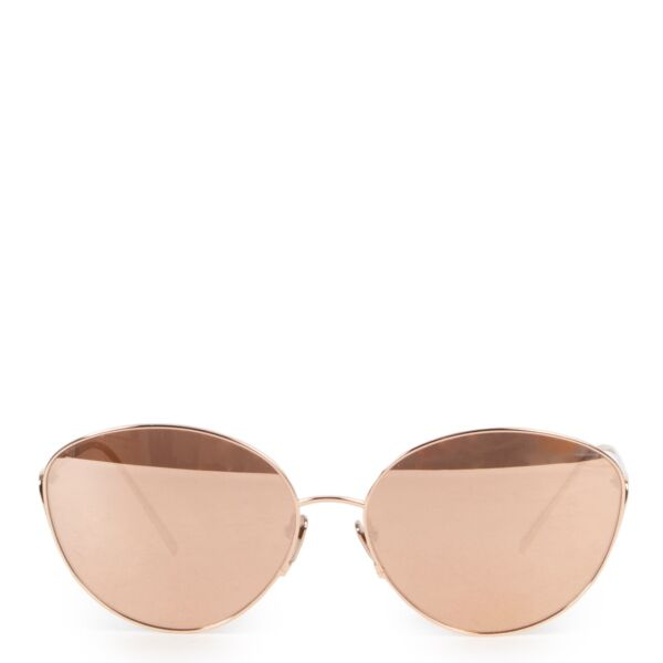 Shop safe online 100% authentic second hand these 100% authentic second hand Linda Farrow Rose Gold Sunglasses