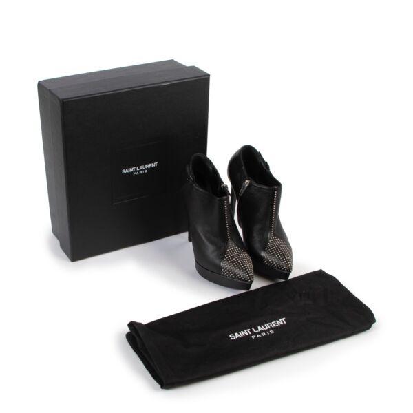 Saint Laurent Black Leather Heels - Size 36