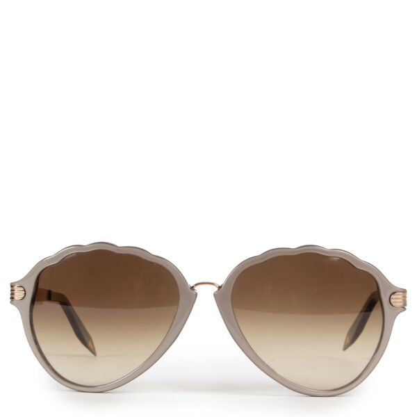 Shop safe online 100% authentic second hand Victoria Beckham Brown Glasses in very good condition at labellov in Antwerp.