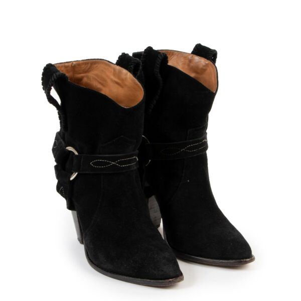 Isabel Marant Black Suede Boots - Size 40