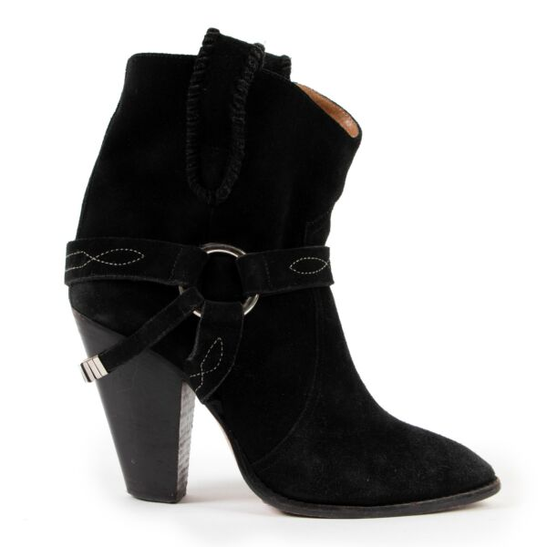 Isabel Marant Black Suede Boots - Size 40 for the best price at Labellov
